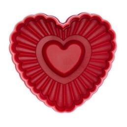 Präge-Ausstecher mit Auswerfer - Herz gewellt - mit Prägung und Auswerfer