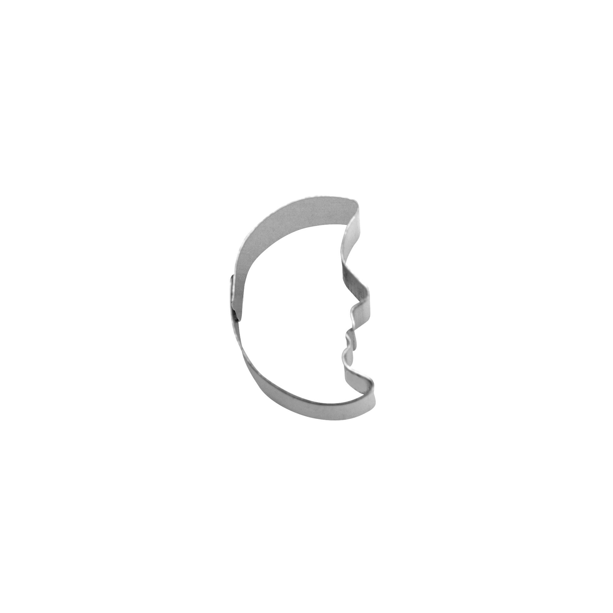 Ausstecher - Mond mit Gesicht - Mini