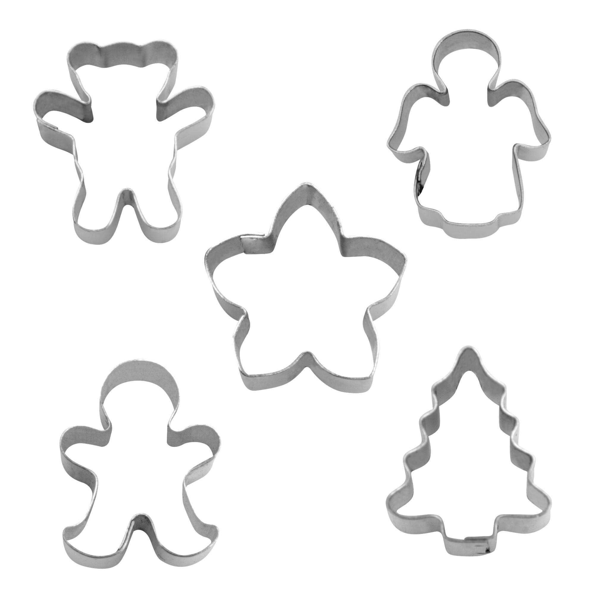 Ausstecher - Weihnachten - Mini - Set, 5-teilig
