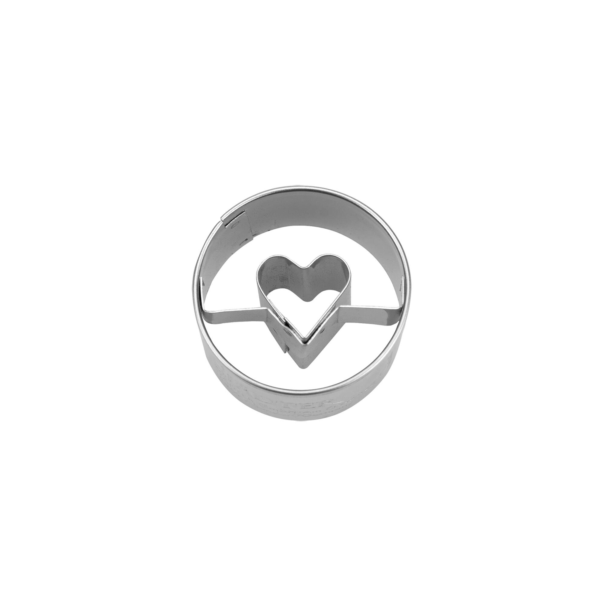 Ausstecher - Herz in Ring - Mini