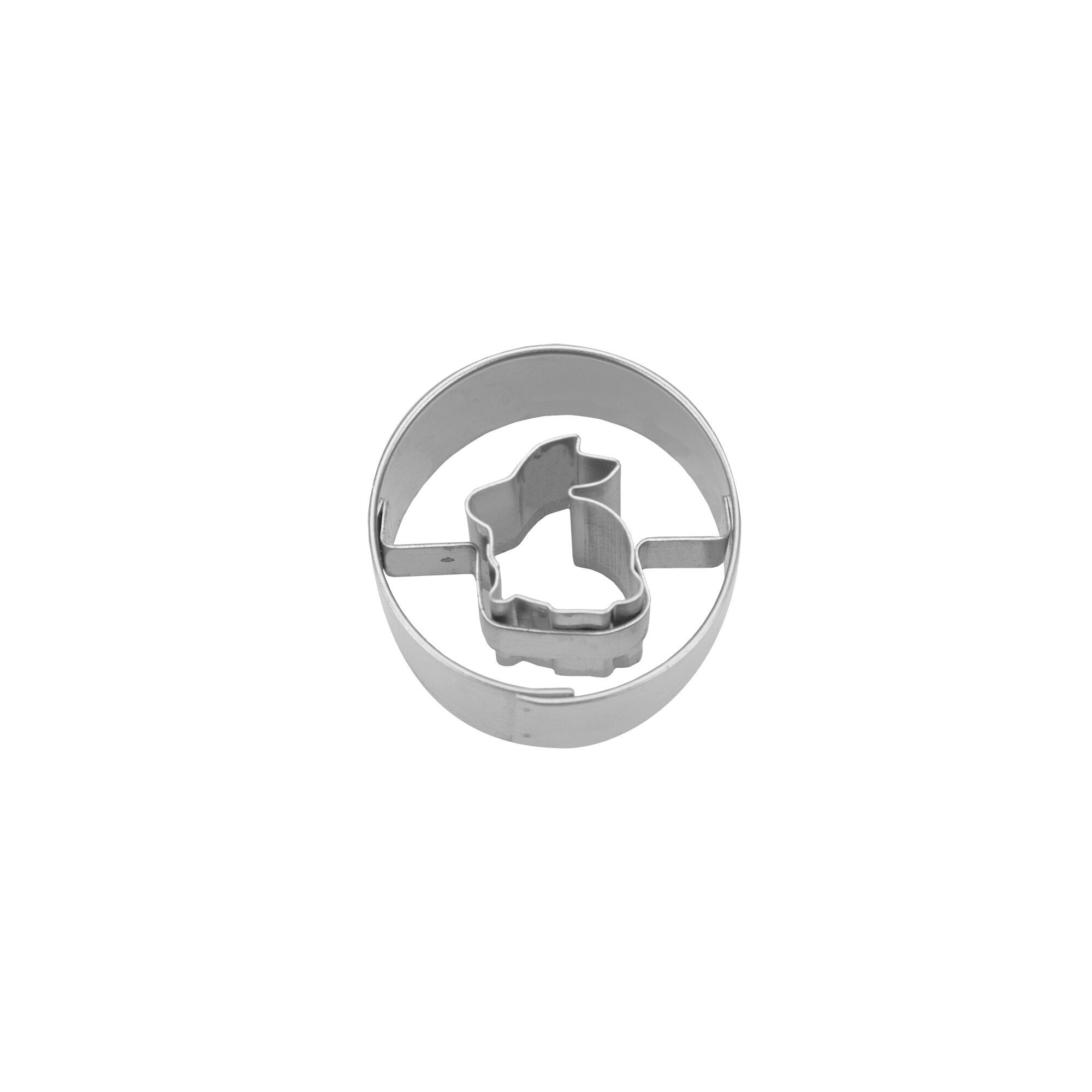 Ausstecher - Hase sitzend in Ring - Mini