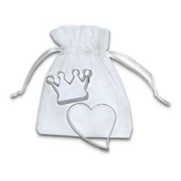 Ausstecher - Ein Herz & eine Krone - Set, 2-teilig
