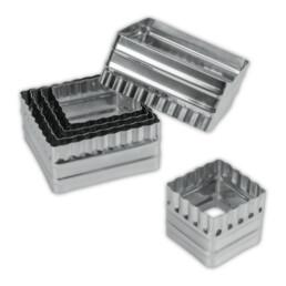 Ausstecher - Quadrate - glatt / gewellt - Set, 6-teilig