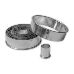 Ausstecher - Ringe / Kreise - glatt - Set, 14-teilig