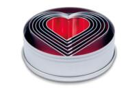 Ausstecher - Herzen - Set, 6-teilig