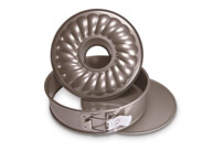 Springform pan - with the flat and tube bottom