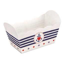 Papier-Backform - Backbord Ahoi - 10 Stück