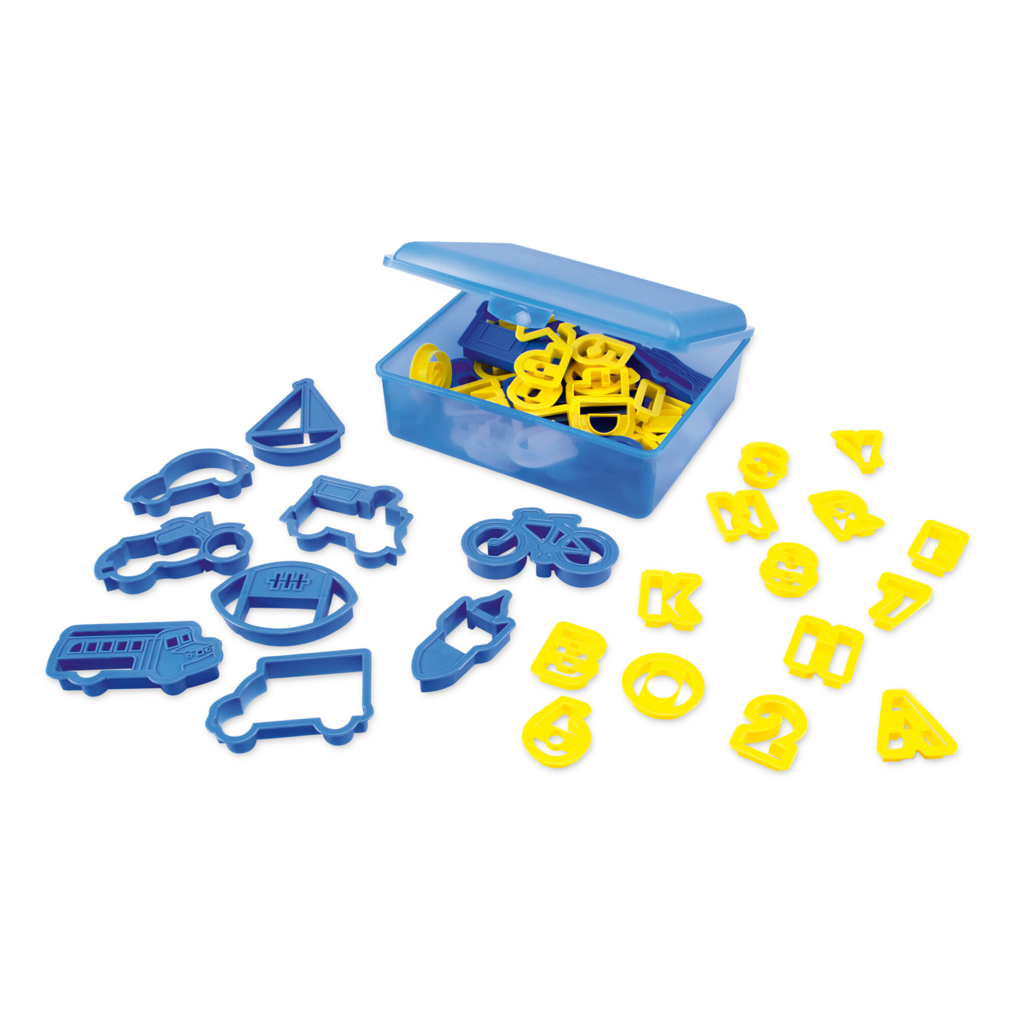 Präge-Ausstecher - Kreative Kiste - Set, 53-teilig