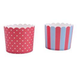 Cupcake liner - Red ice blue - Maxi - 12 pieces