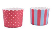 Cupcake-Backform - Rot-Hellblau - Maxi - 12 Stück