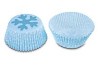 Papier-Backförmchen – Eiskristall – 50 Stück