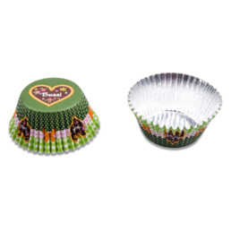 Paper cupcake liners - Bussi / Kiss - 50 pieces