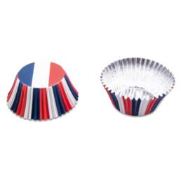 Papier-Backförmchen - Frankreich - 50 Stück