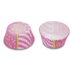 Papier-Backförmchen - Blume Pink - Mini - 50 Stück