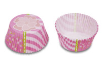 Paper cupcake liners - Flower pink - Mini - 50 pieces