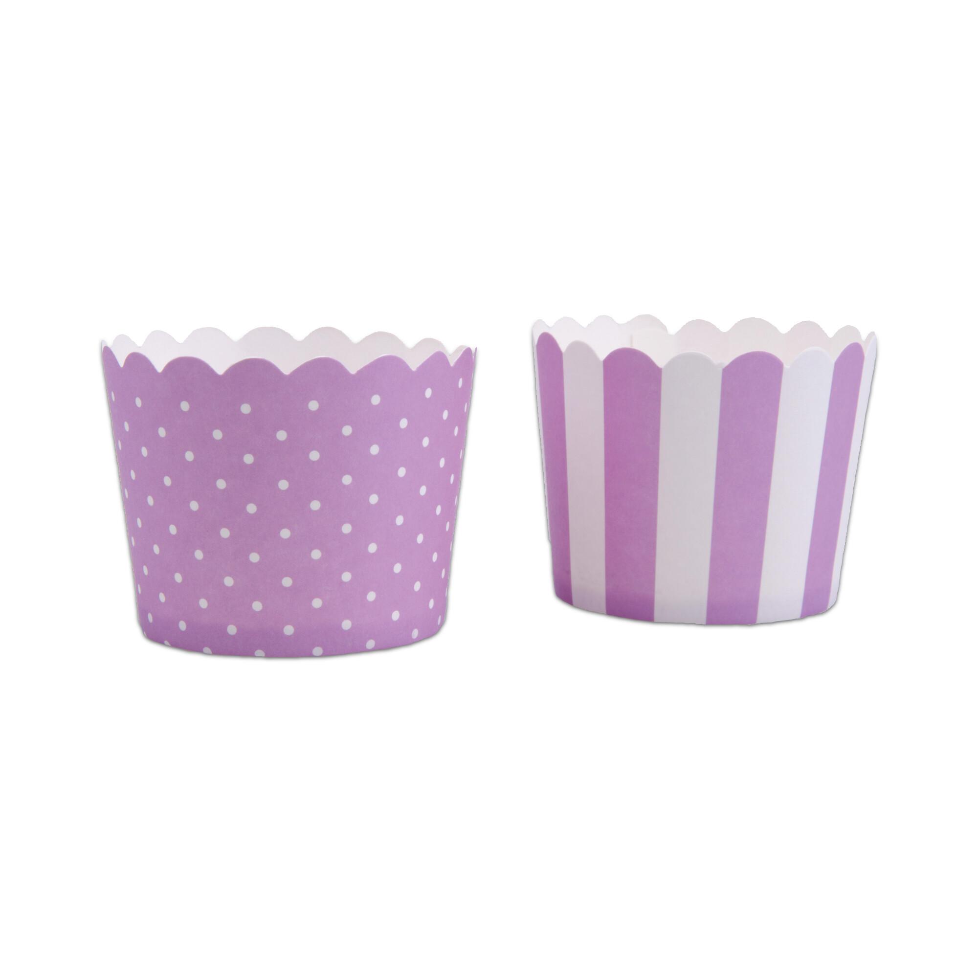 Cupcake liner - Lilac white - Mini - 12 pieces
