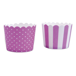 Cupcake liner - Violet white - Mini - 12 pieces