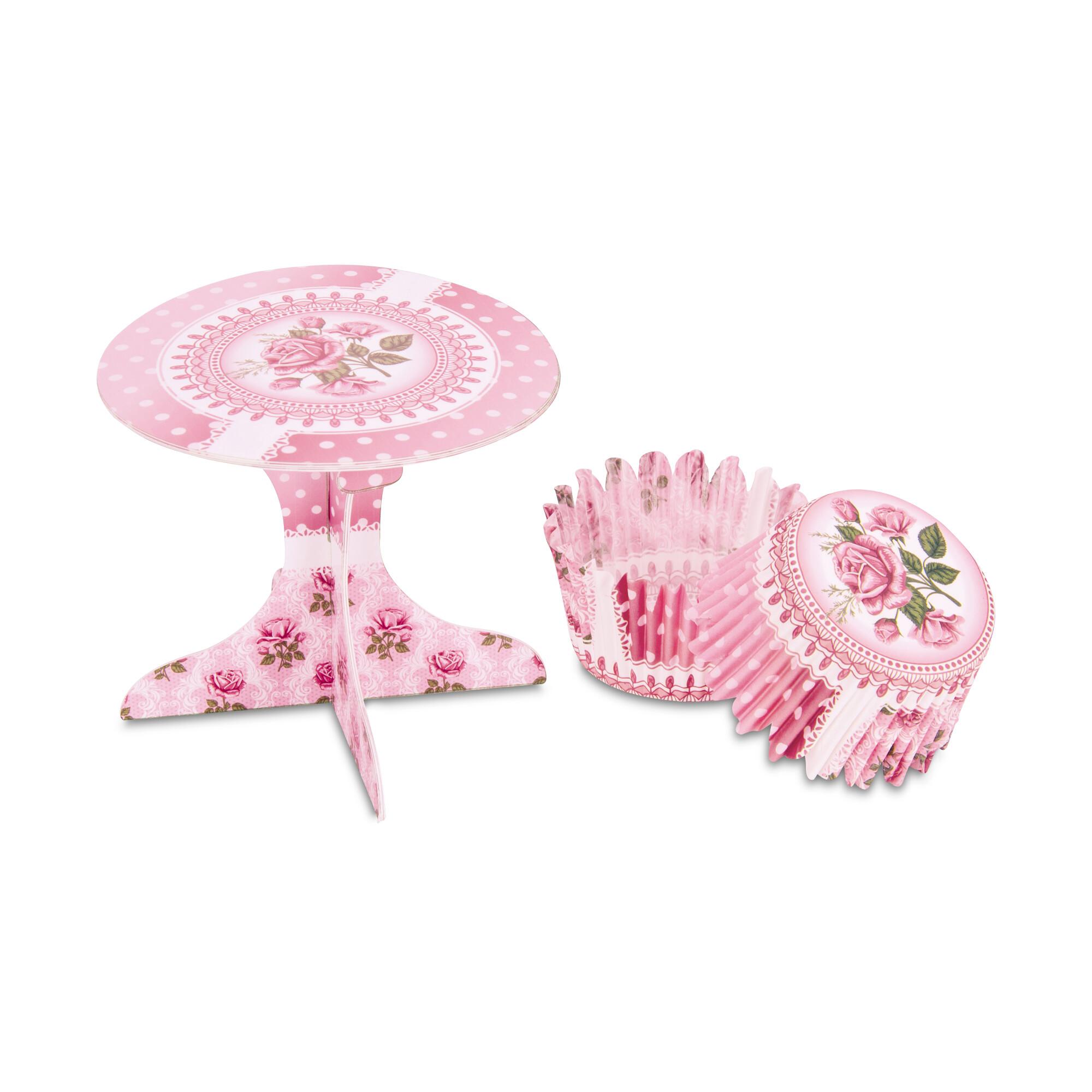 Cupcake deko - Rose garden - Set, 36 parts