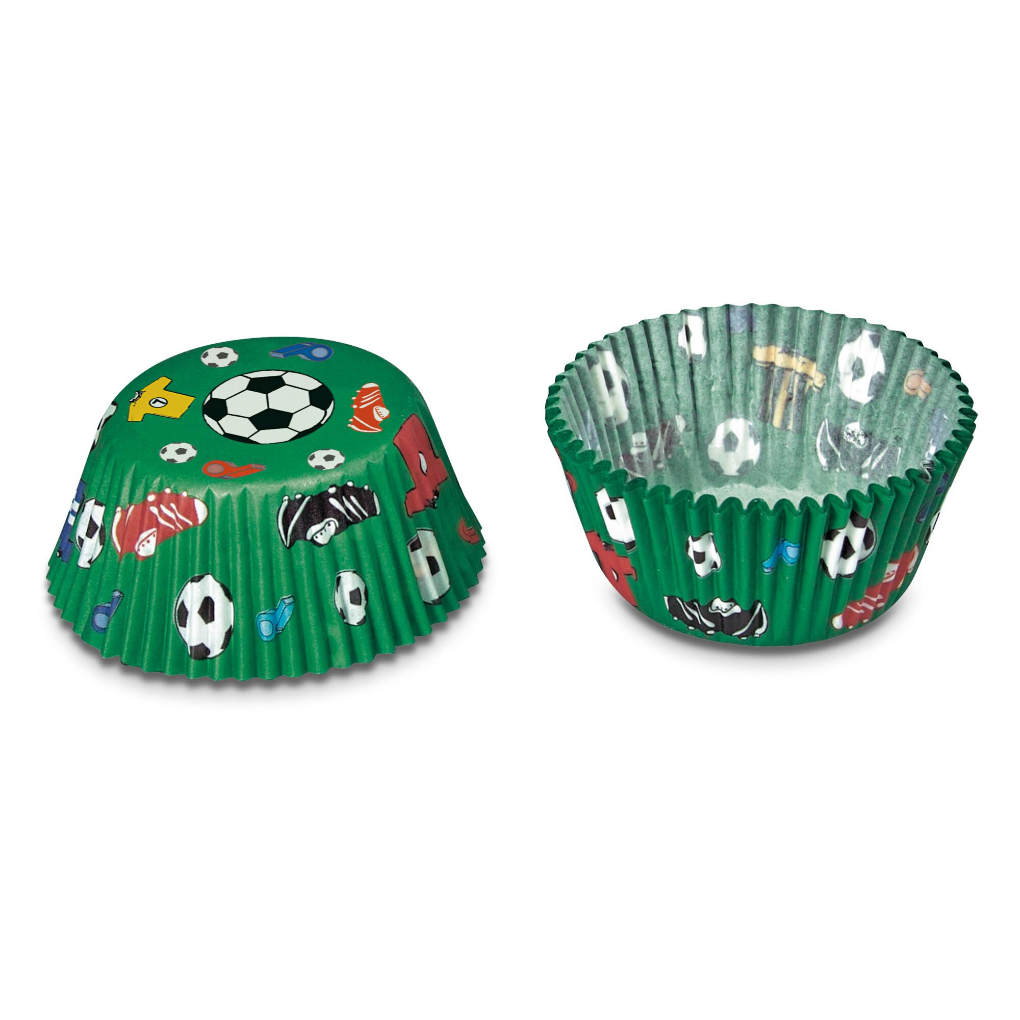Papier-Backförmchen - Fußball - Mini - 50 Stück