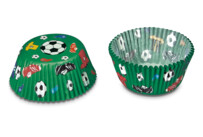 Paper cupcake liners - Football - Mini - 50 pieces