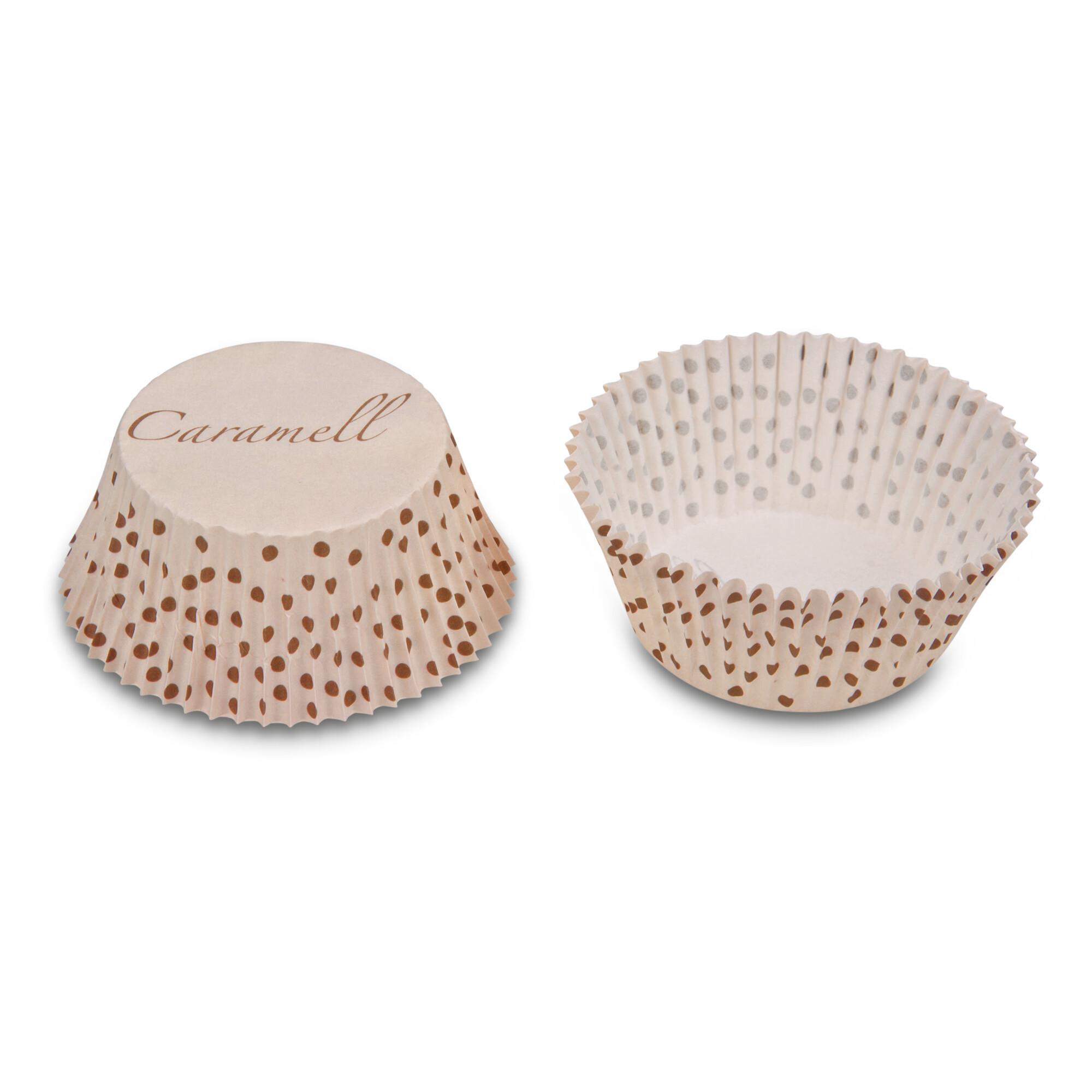 Papier-Backförmchen – Caramell – 50 Stück