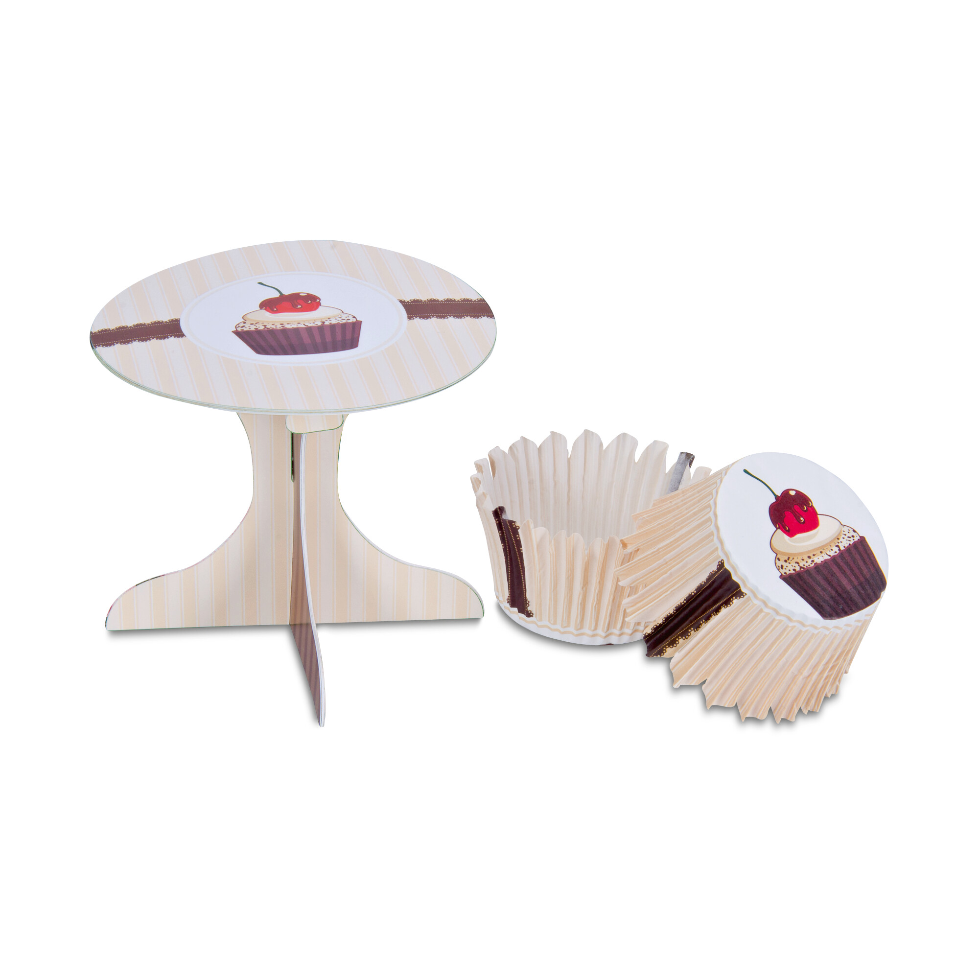 Cupcake deko - Café - Set, 36 parts
