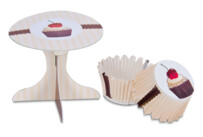 Cupcake-Deko - Kaffeehaus - Set, 36-teilig