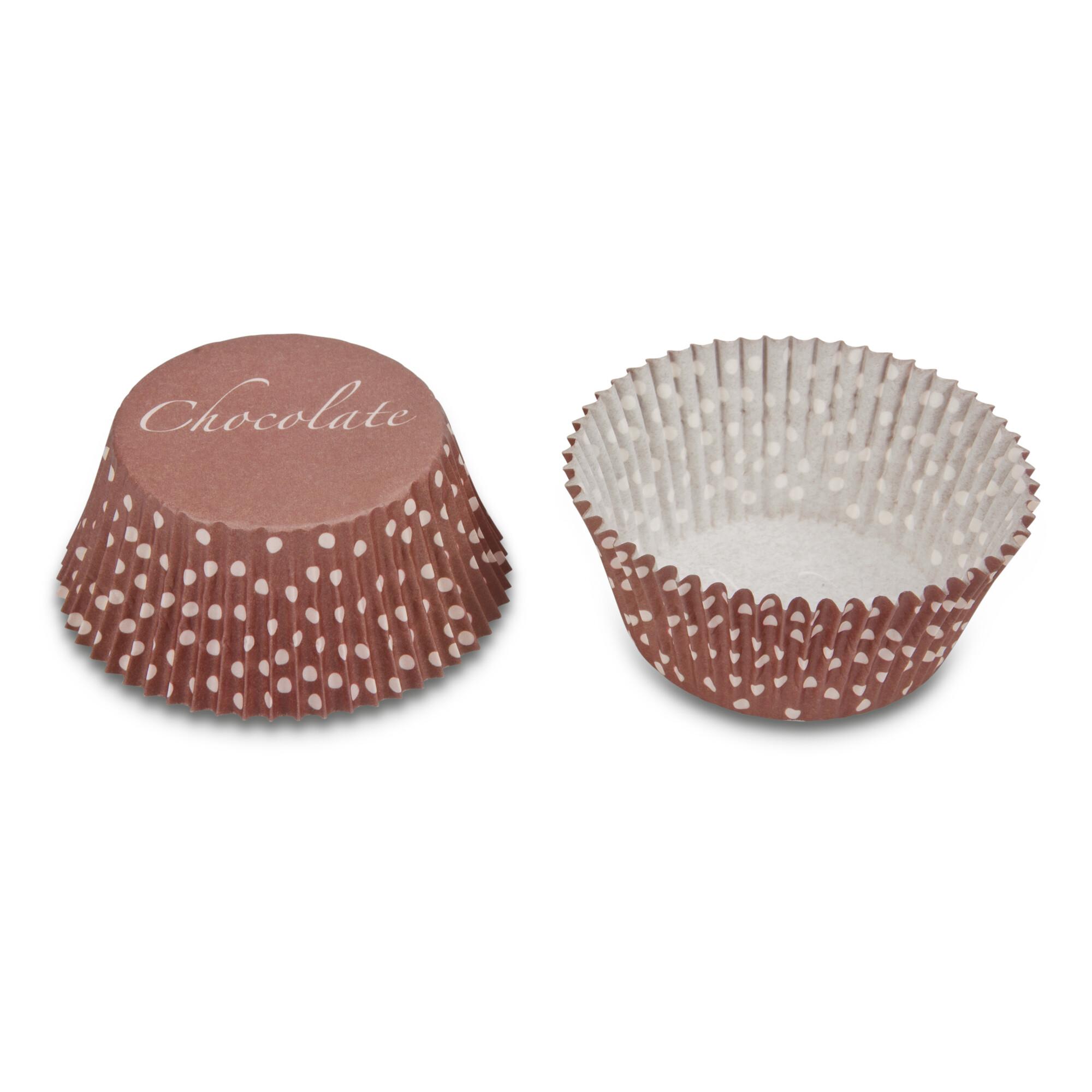 Papier-Backförmchen – Chocolate – 50 Stück