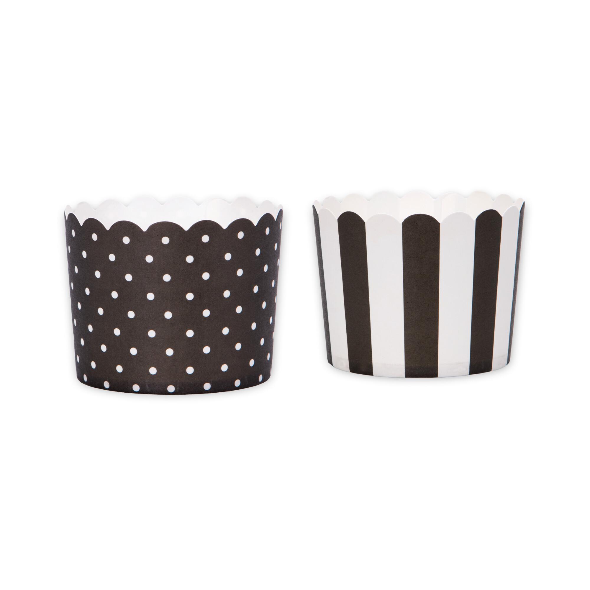 Cupcake liner - Black white - Mini - 12 pieces