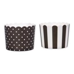 Cupcake-Backform - Schwarz-Weiß - Mini - 12 Stück