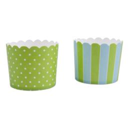 Cupcake liner - May green sky-blue - Maxi - 12 pieces