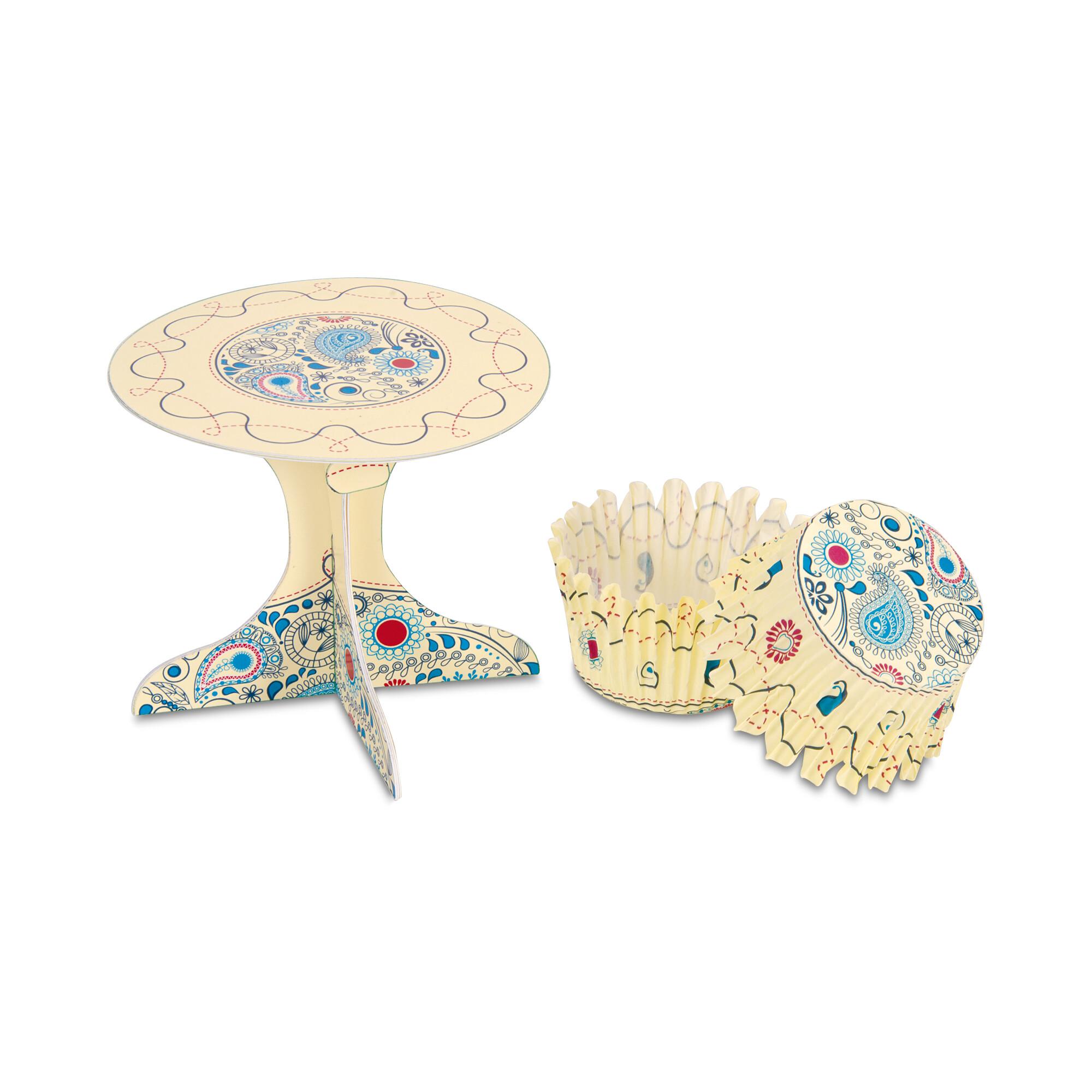 Cupcake deko - Paisley - Set, 36 parts