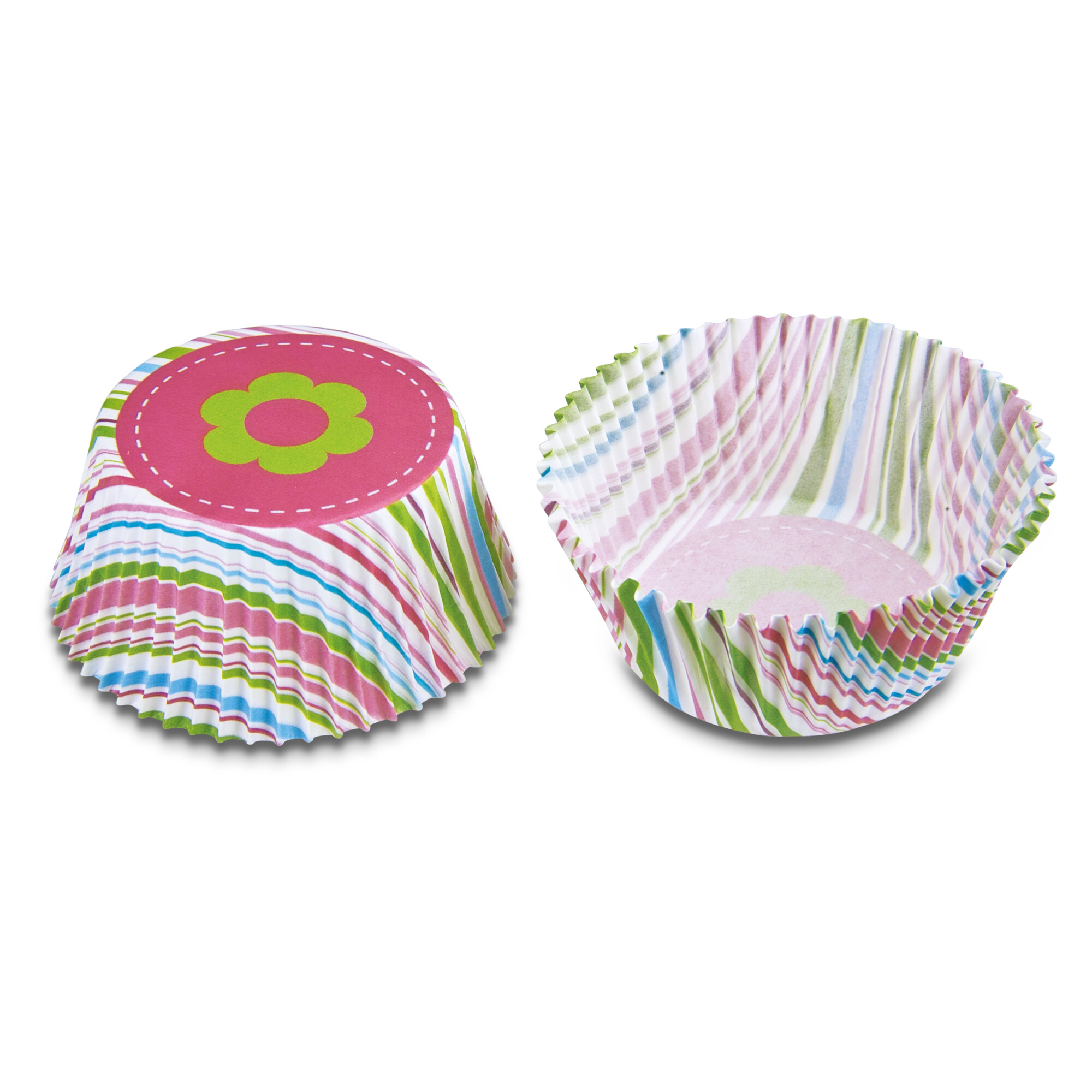 Paper cupcake liners - Stripes - Maxi - 50 pieces