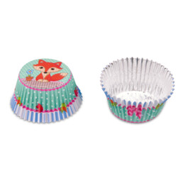 Paper cupcake liners - Fox - 50 pieces