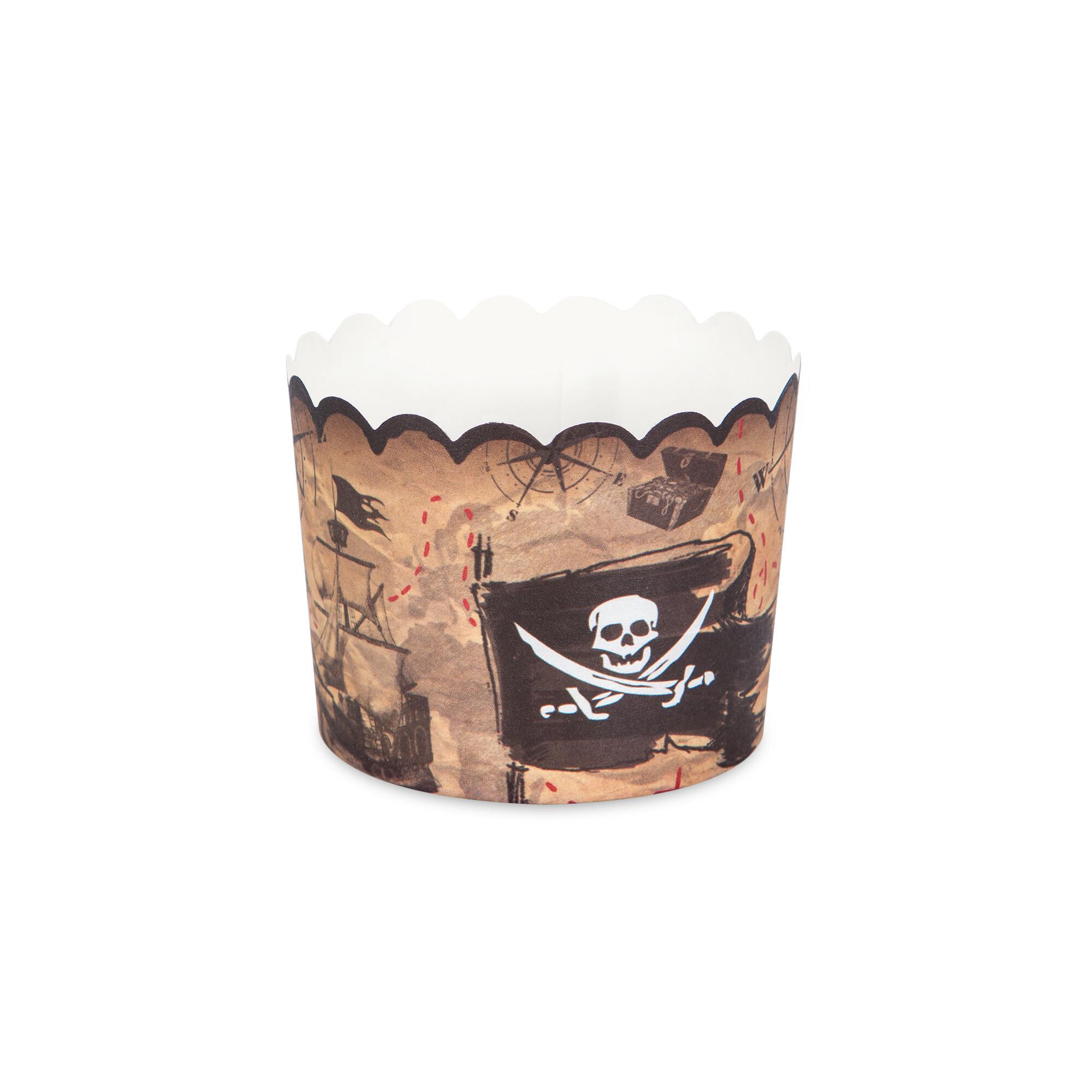 Cupcake-Backform - Piratenabenteuer - Maxi - 12 Stück