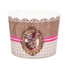 Cupcake liner - Deer lady - Maxi - 12 pieces