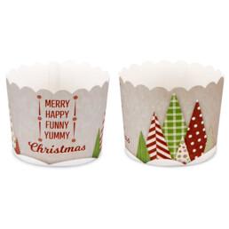 Cupcake-Backform - Yummy Christmas - Maxi - 12 Stück