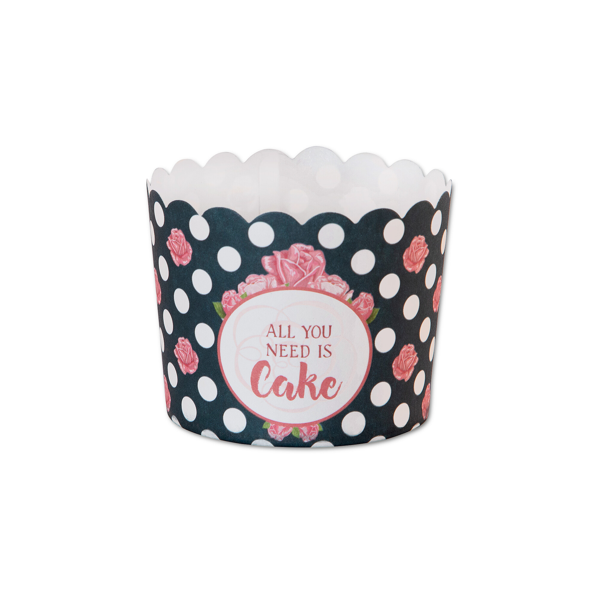 Cupcake liner - All You Need Is Cake - Maxi - 12 pieces
