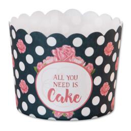 Cupcake-Backform - All You Need Is Cake - Maxi - 12 Stück