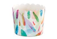 Cupcake-Backform - Rainbow Feathers - Maxi - 12 Stück