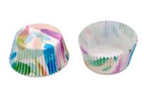 Papier-Backförmchen - Rainbow Feathers - Maxi - 50 Stück