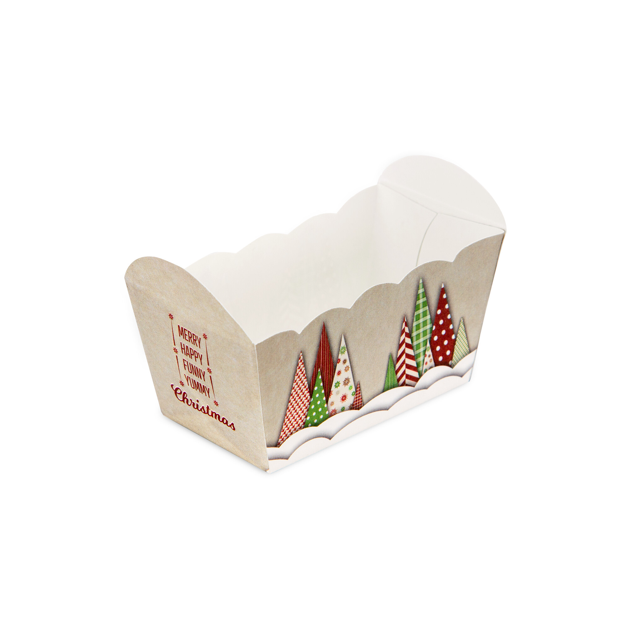 Paper baking pan - Yummy Christmas - 10 pieces
