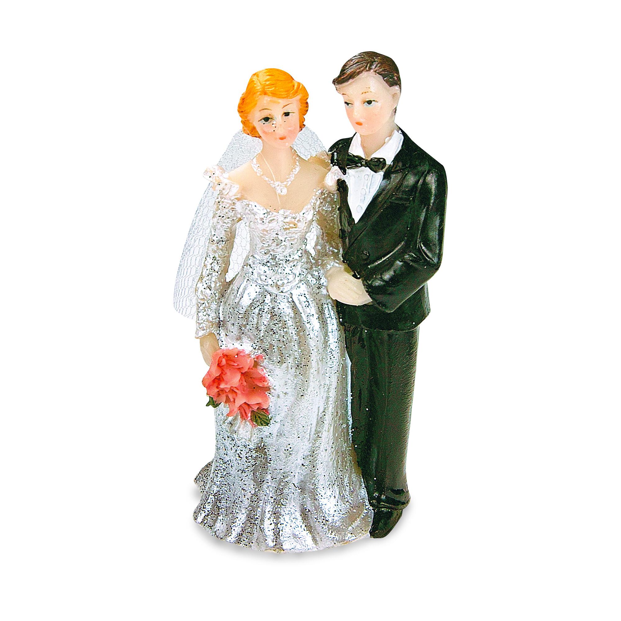 Tortendekoration - Brautpaar - mit Schleier