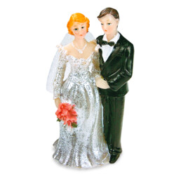 Cake decoration - Bridal couple - with veil