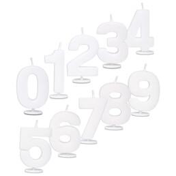 Kerze mit Halter weiß