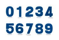 Kerzen - Ziffer 0–9 - mit Halter - Set, 10-teilig