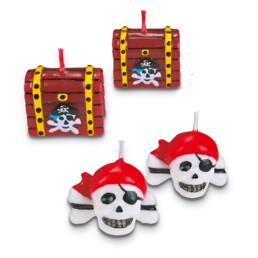 Kerzen - Piratenschatz - Set, 4-teilig