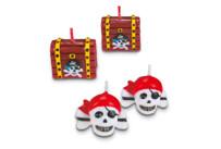 Candles - Pirate treasure - Set, 4 parts