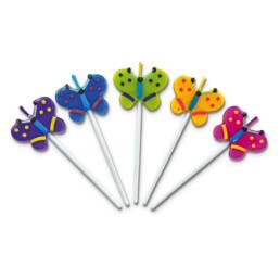 Candles - Butterflies - Sticks - Set, 5 parts