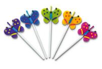 Kerzen - Schmetterlinge - Sticks - Set, 5-teilig